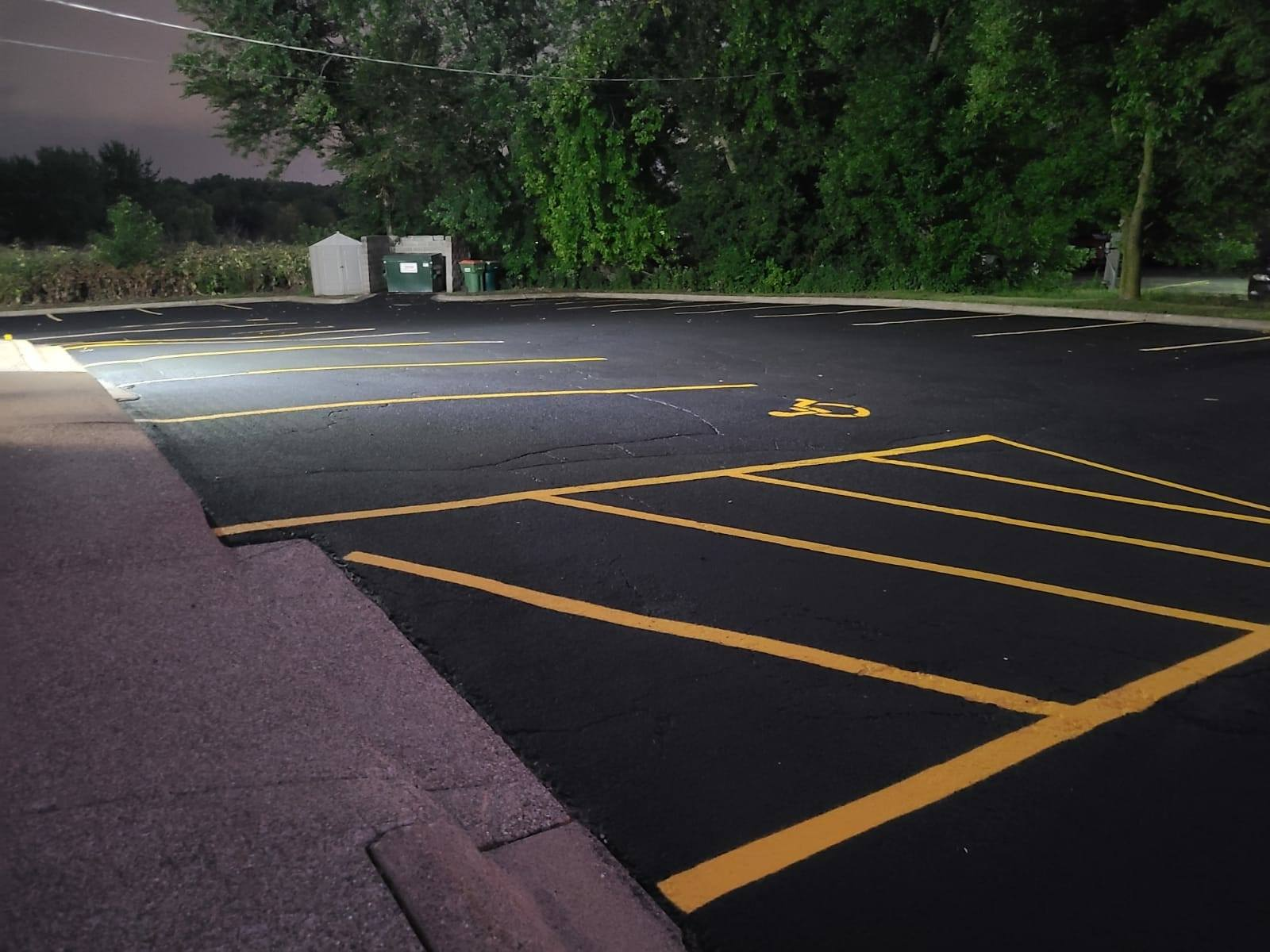 Maintaining a parking lot properly is essential for safety